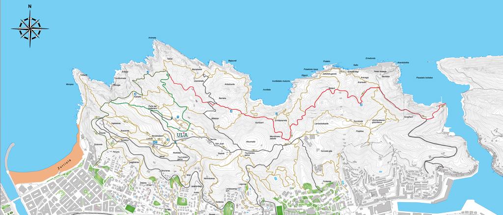 Red de caminos de Ulía