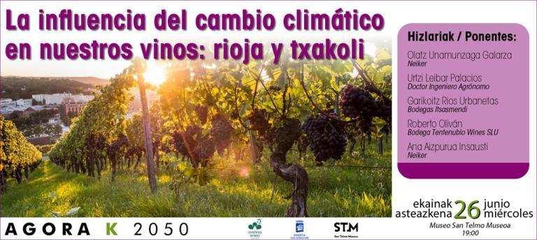 La influencia del Cambio Climático en nuestros vinos: rioja y txakoli