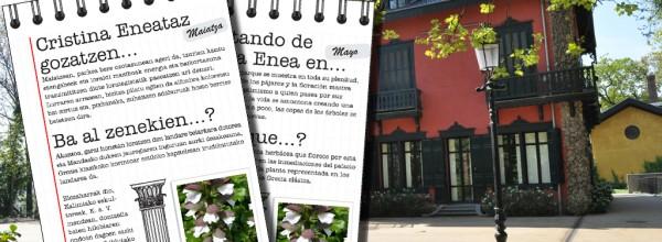 Mayo, cuando el parque de Cristina Enea se muestra en toda su plenitud Cristina Enea Fundazioa
