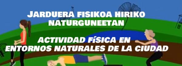 Actividad física en entornos naturales de la ciudad Cristina Enea Fundazioa